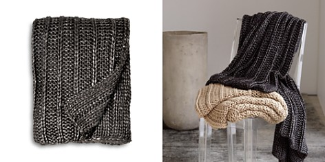 Michael Aram Chunky Rib Knit Throw - Bloomingdale's_2